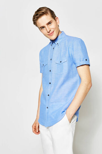 Solid colour regular-fit casual shirt