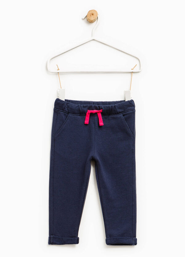 Pantalón de chándal de algodón con cordón de ajuste   OVS