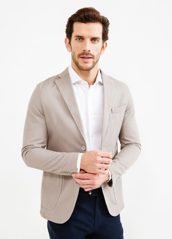 Jacket with Rumford embossed weave | OVS
