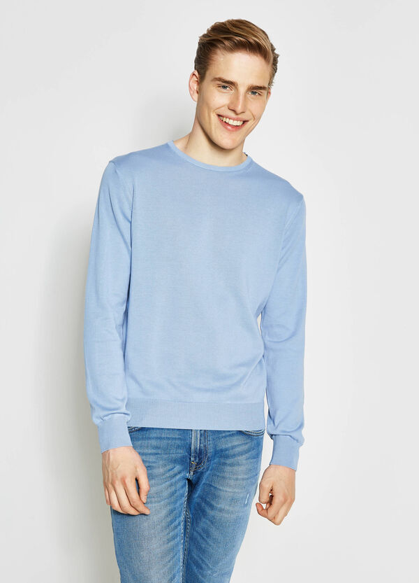 100% cotton pullover with crew neck | OVS