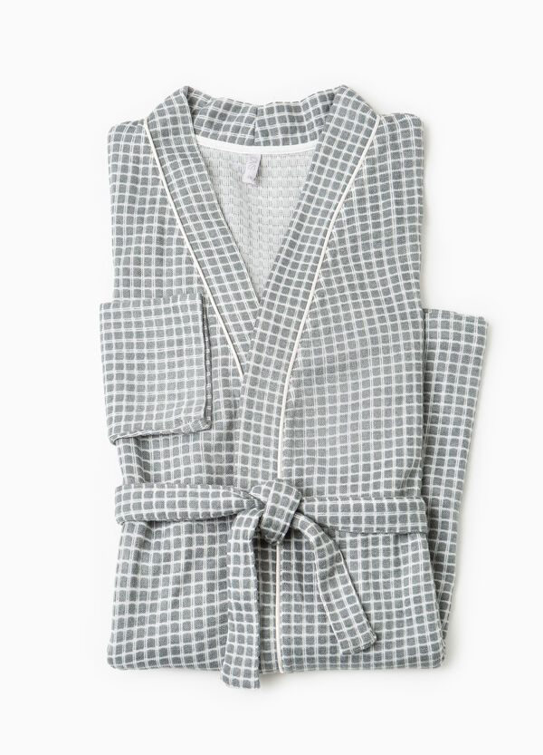 Check pattern dressing gown | OVS