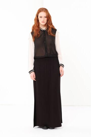Curvyglam chiffon shirt, White/Black, hi-res