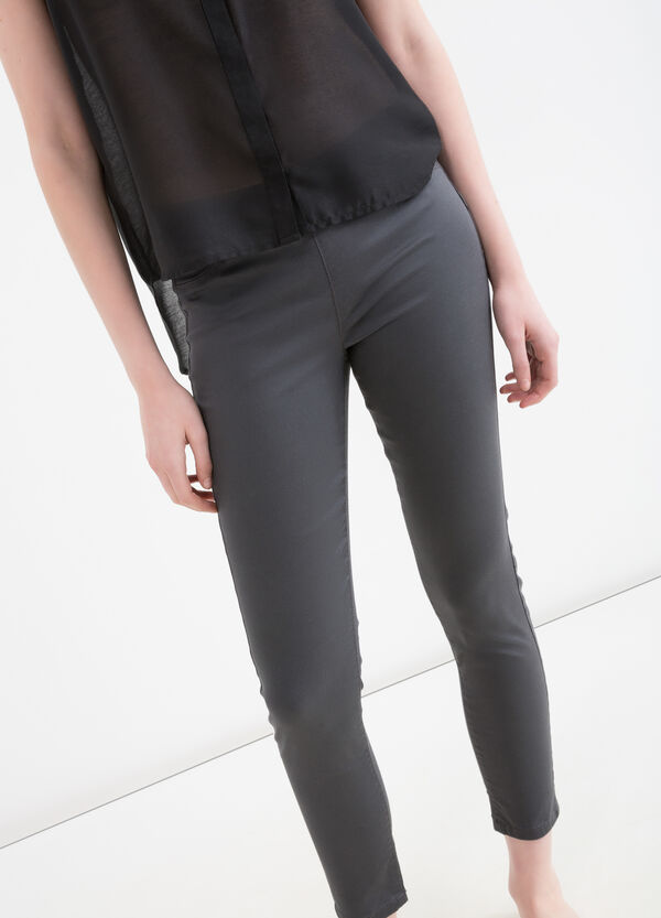 Solid colour jeggings with regular waist | OVS