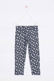Patterned stretch jeggings, Navy Blue, hi-res