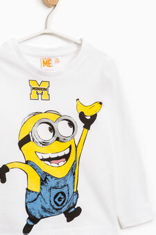 Minions printed T-shirt in 100% cotton, Off-white, hi-res