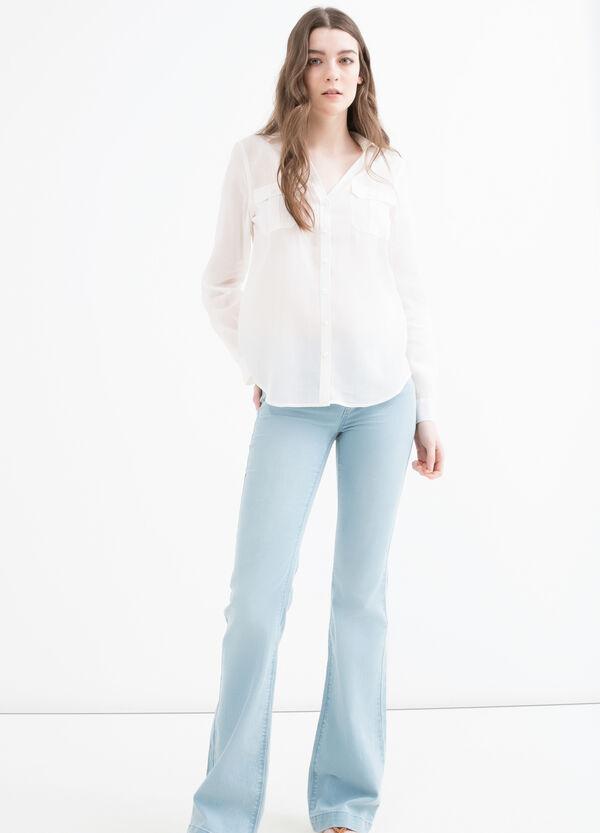 Camicia misto cotone con taschini   OVS
