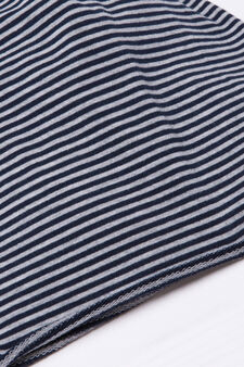 Striped beanie cap., Grey, hi-res