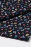 Floral print scarf, Navy Blue, hi-res
