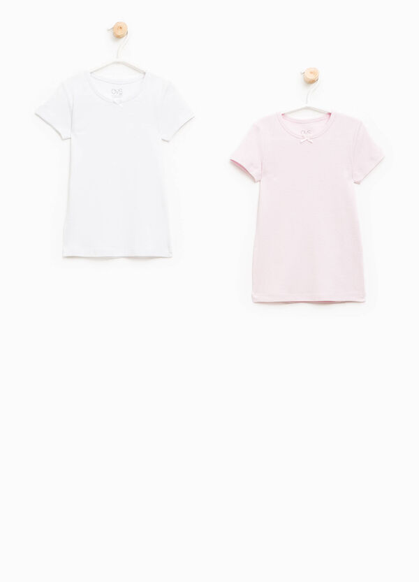 Set due t-shirt intime con fiocchetto | OVS