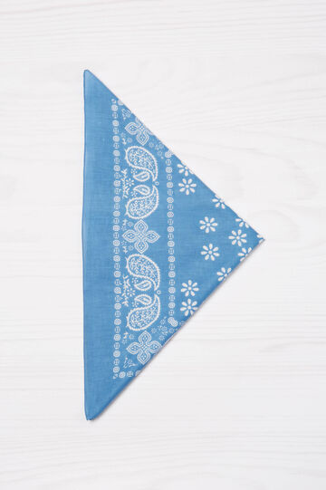 Paisley print scarf, Soft Blue, hi-res