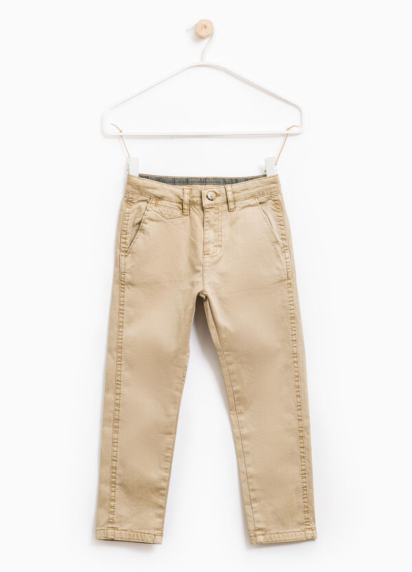 Stretch cotton twill trousers | OVS