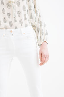 Jeans bootcut stretch, Bianco, hi-res