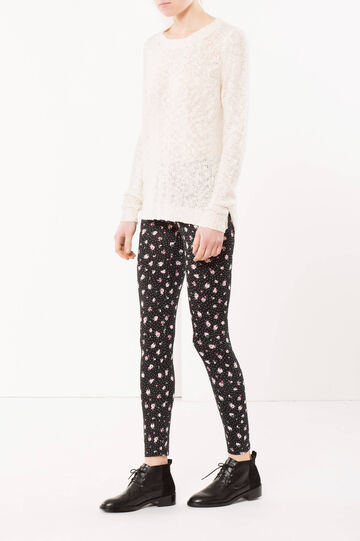 Tricot knit jumper, White, hi-res