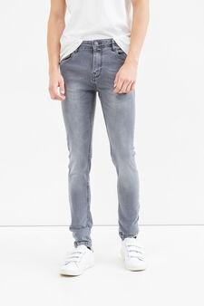 Jeans super skinny fit used, Lavaggio chiaro, hi-res