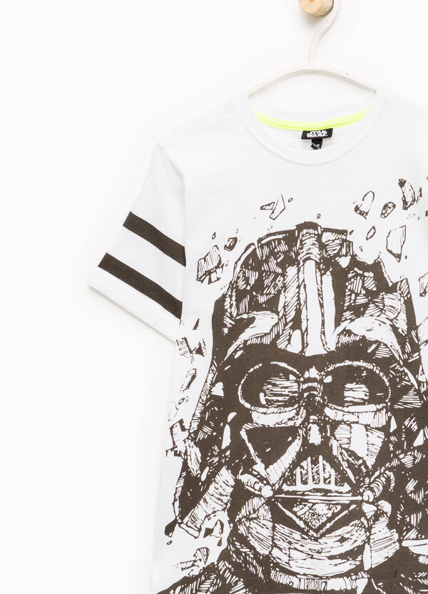 Star Wars print T-shirt with striped sleeves | OVS