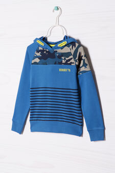 100% cotton hoodie, Blue, hi-res
