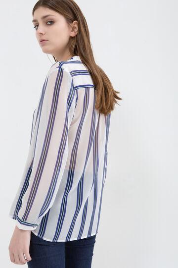 Striped pattern blouse, Multicolour, hi-res