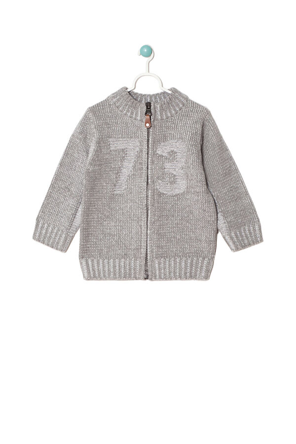Cotton blend pullover with zip | OVS