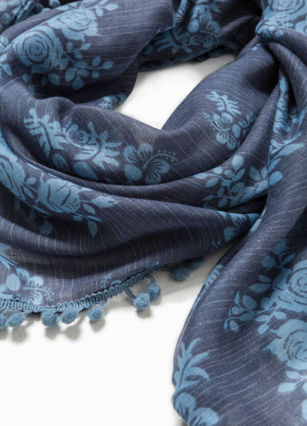 Pashmina in viscose with flowers | OVS