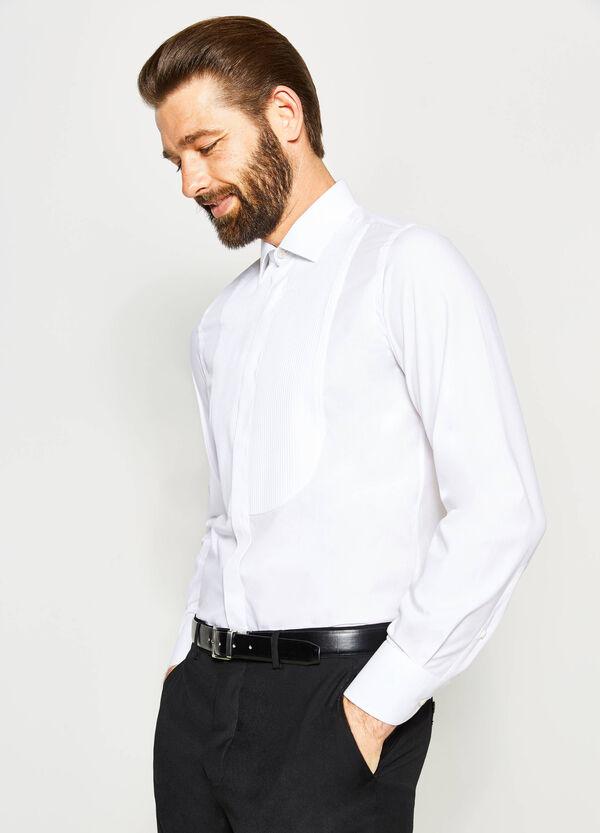 Camisa formal slim fit plisada | OVS