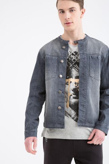 Giubbotto di jeans effetto used, Denim, hi-res