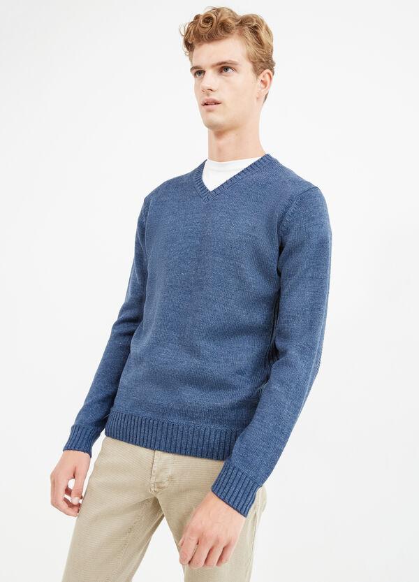 Jersey en punto tricot de color liso | OVS
