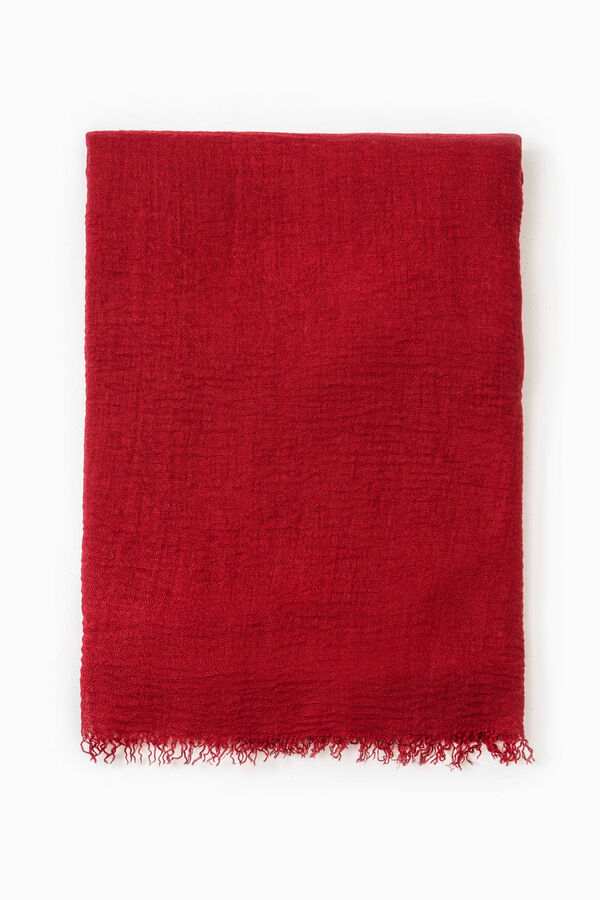Solid colour viscose blend scarf | OVS