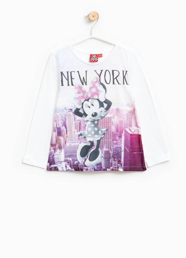 Camiseta de algodón con estampado grande de Minnie | OVS