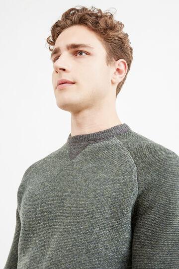 100% wool pullover with raglan sleeves, Grey, hi-res