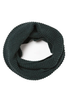 Solid colour loop scarf, Green, hi-res