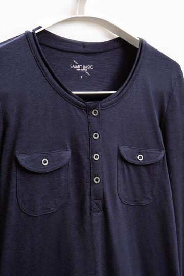 Smart Basic T-shirt with pockets, Blue, hi-res