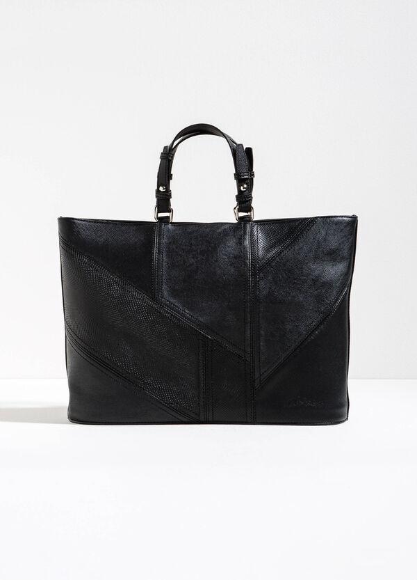 Handbag with snakeskin-look inserts | OVS