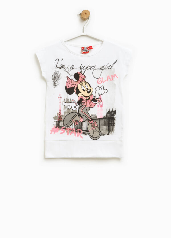T-shirt con stampa Minnie | OVS