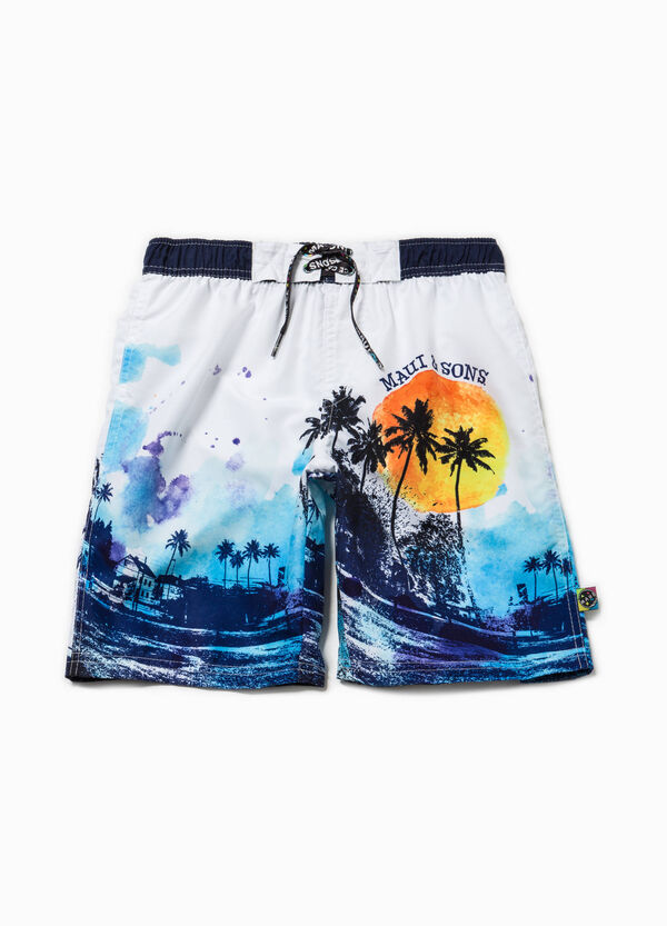Printed Bermuda swimsuit by Maui and Sons | OVS