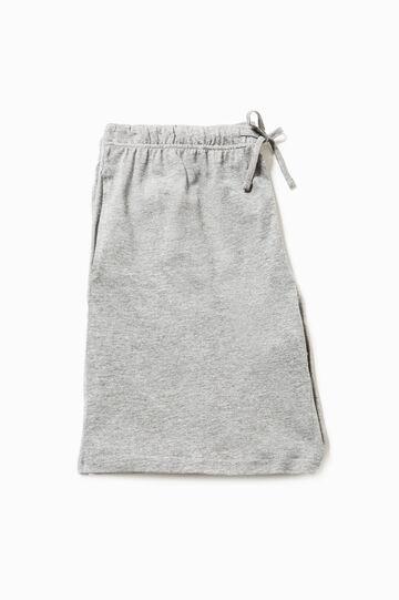 Bermuda pyjamas in 100% cotton, Grey Marl, hi-res