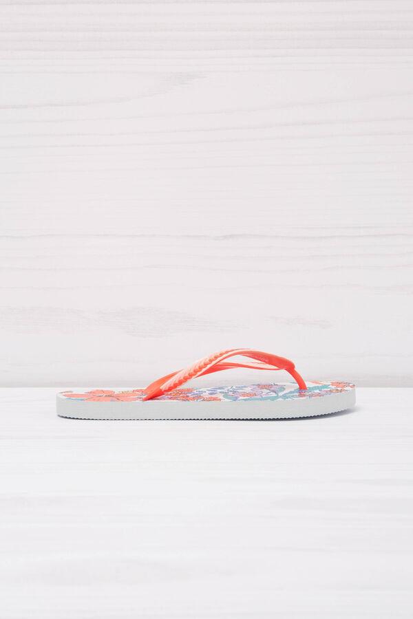 Floral thong sandals | OVS