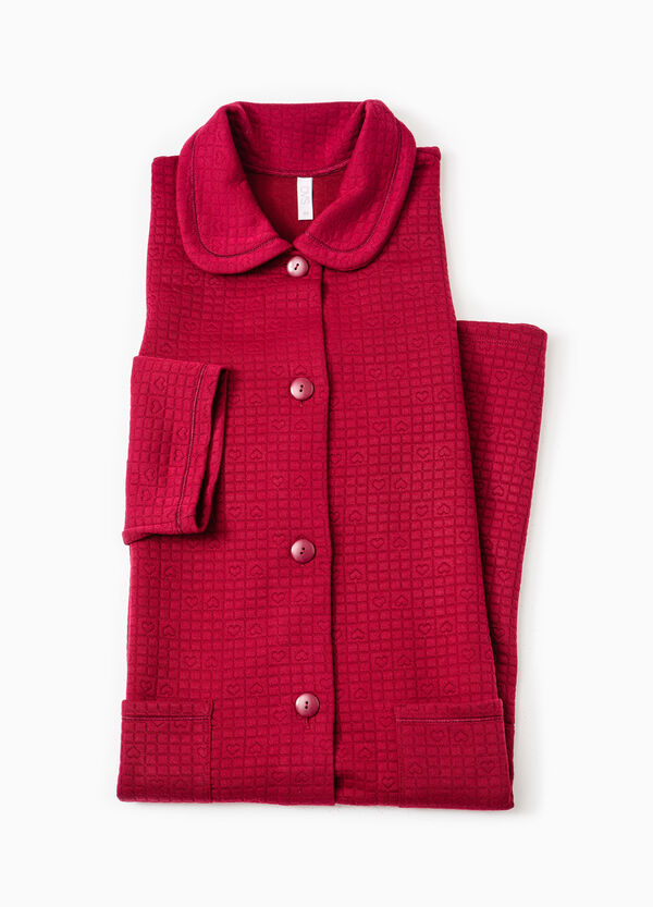Raised check weave dressing gown | OVS