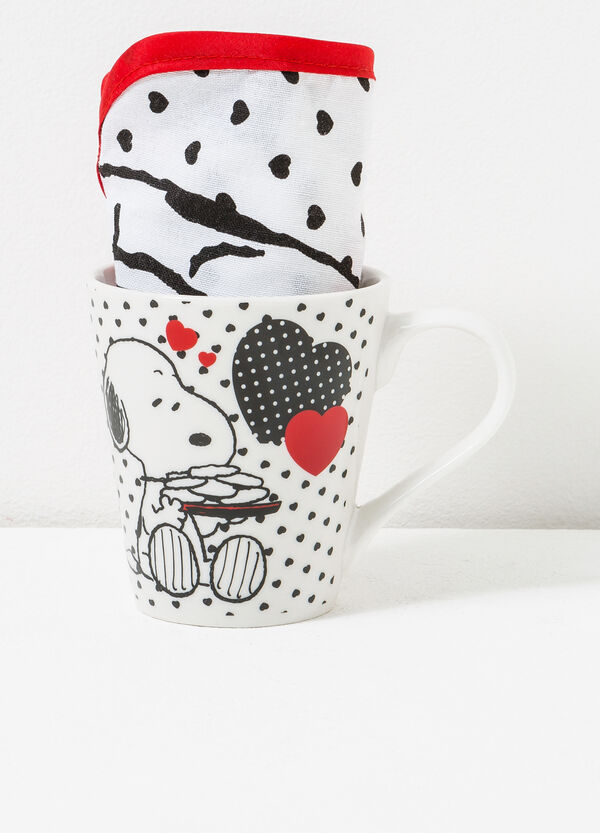 Snoopy cup and mat set   OVS