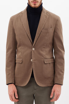 Rumford stretch jacket with lapels, Khaki, hi-res