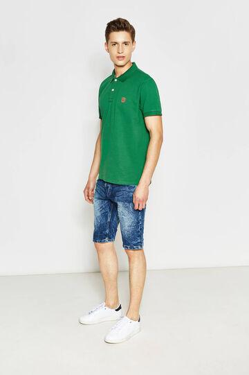 Bermuda di jeans skinny fit stretch, Lavaggio medio, hi-res