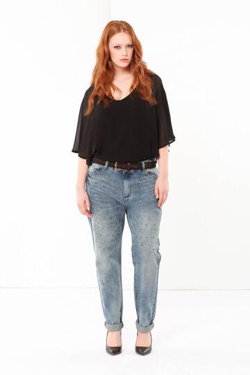 Jeans con strass Curvyglam, Lavaggio medio, hi-res
