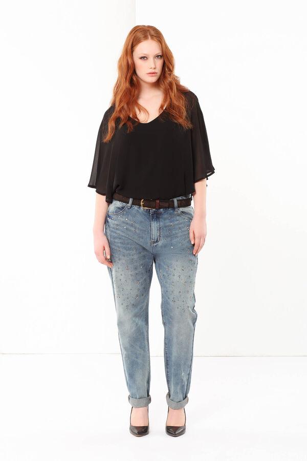 Curvyglam jeans with rhinestones   OVS