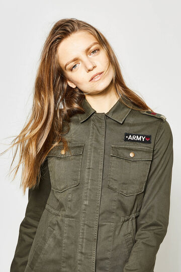 Jacket with epaulettes and patch, Army Green, hi-res