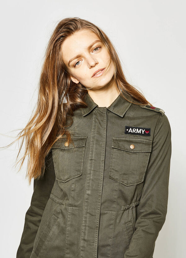 Jacket with epaulettes and patch | OVS