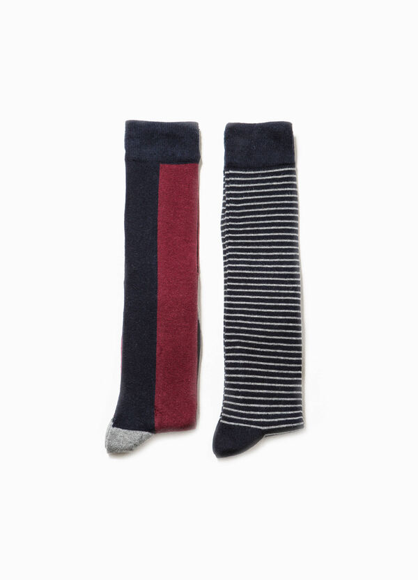 Two-pair pack socks two-tone and striped | OVS
