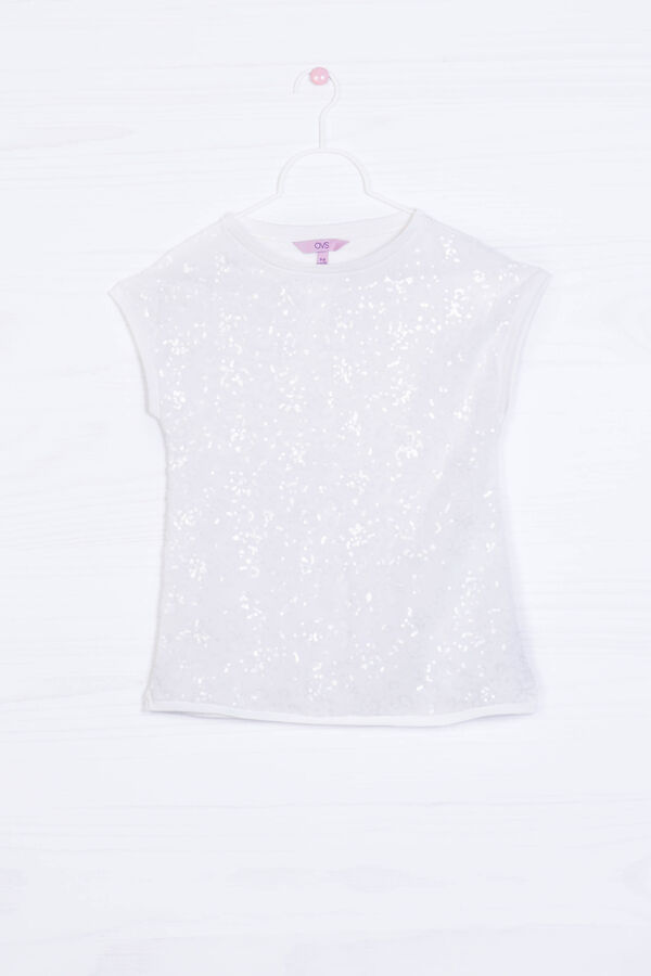 T-shirt viscosa stretch con paillettes | OVS
