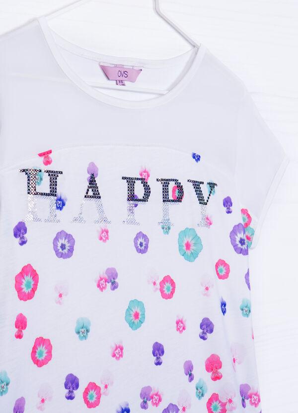 T-shirt misto viscosa con strass | OVS