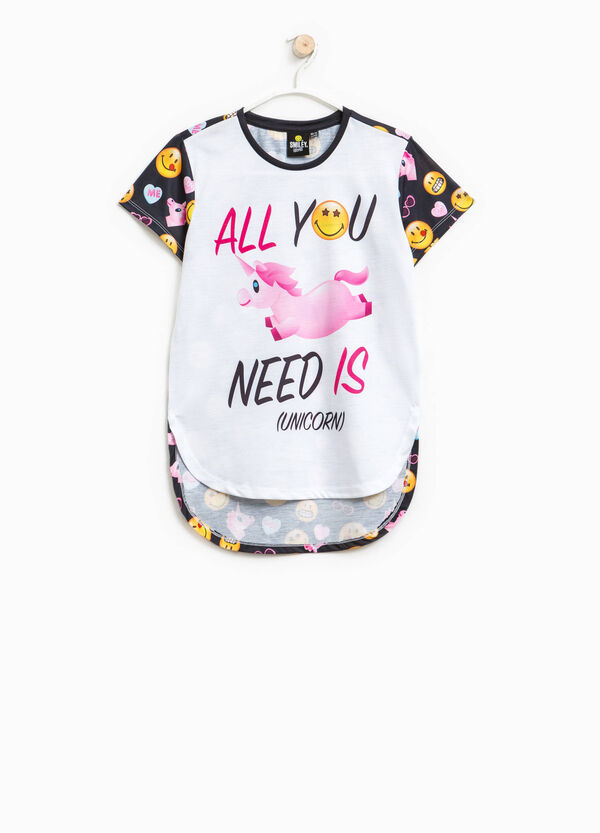 Smiley T-shirt with round neck | OVS