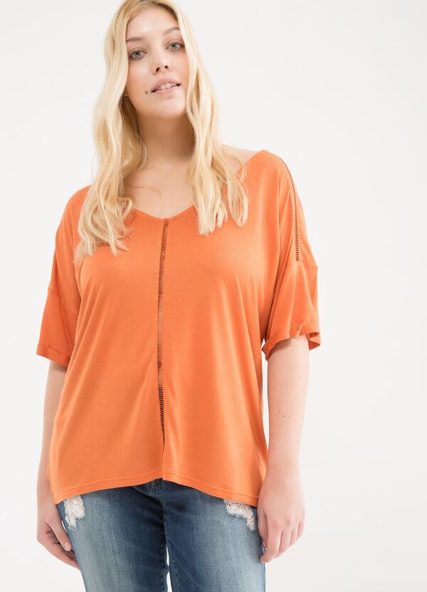 T-shirt in pura viscosa Curvy | OVS
