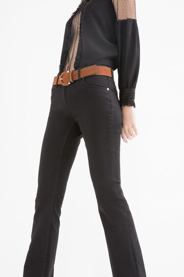 Stretch boot cut jeans, Black, hi-res